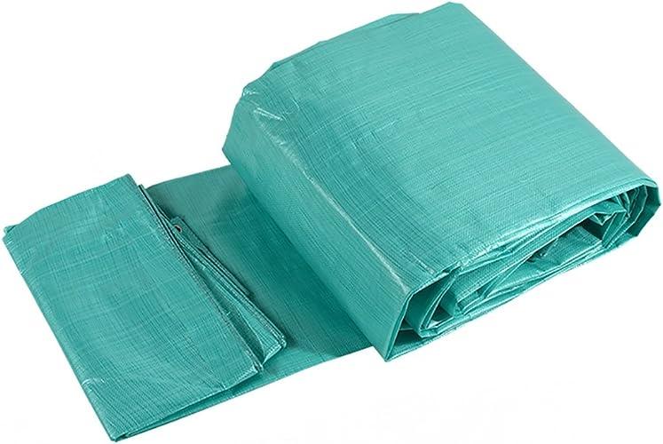 Hyxpb Imperméable à l'eau de Tissu imperméable à l'eau de bache imperméable à l'eau de bache de Camion de Vapeur de bache imperméable à l'eau de Toile Double bache Verte (Taille   6m10m)