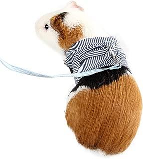 Adnikia Small Pet Animal Harness Vest & Leash Set, No Pull Harnesss for Squirrel Rabbit, Guinea Pig, Totoro, Chinchilla, Squirrel, Marten & Mink, Striped Small Pet Walking Chest Strap Harness& Leash