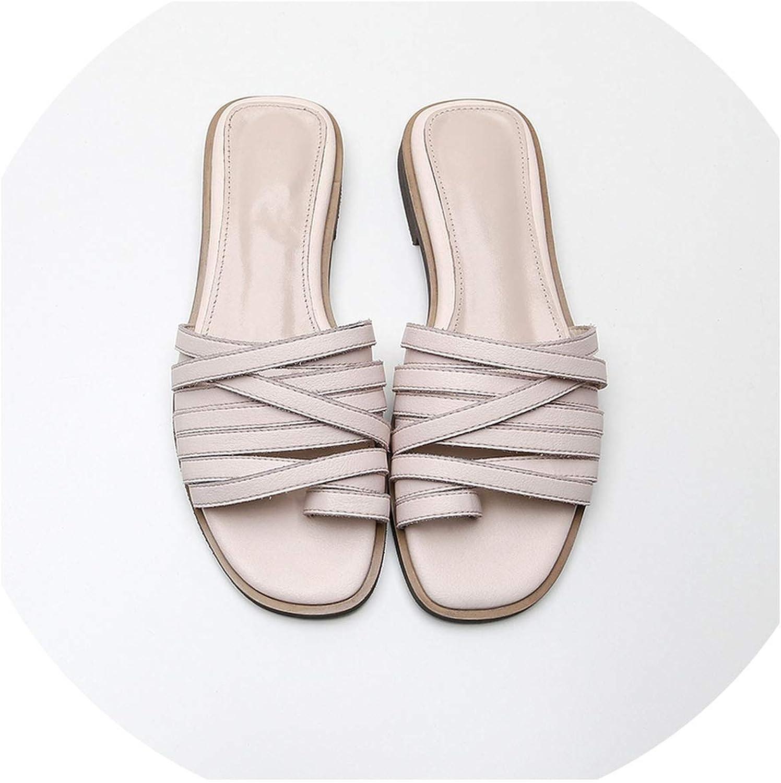 goldsmyth New Women Low Heel Slippers Fashion Mules Open Toe Slip On Flip Flops Women Slippers Size 32-44