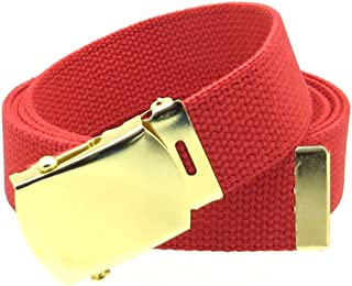 "Sponsored Ad - Canvas Web Belt Military Style with Brass Buckle and Tip 54"" Long Many Colors"