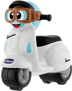 Chicco - Mini moto Vespa Turbo Touch, con carga por retroceso, color blanco
