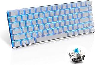 UrChoiceLtd AK33 Backlit Usb Wired Gaming Mechanisch Toetsenbord Blauw Zwart Schakelaars voor kantoor, typisten en spellet...
