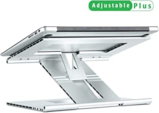 Portable Foldable Adjustable Aluminum Laptop Stand, Ventilated Cooling Notebook Computer Tablet PC Stand, Multi-angle and height Elevate for desk bed sofa Compatible with MacBook Air/Pro,IPAD 9-17inch
