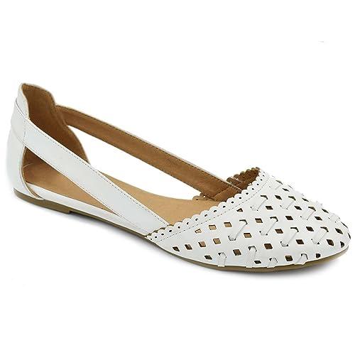 57d6218391fbc Women's White Closed Toe Sandals: Amazon.com