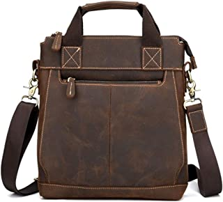 Sponsored Ad – Accompanying Vintage Business Handbag Crazy Horse Leather Briefcase One Shoulder Cross Postman Bag One Shou...