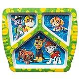 Zak Designs Kids Divided Plates, Paw Patrol Rocky, Rubble & Skye
