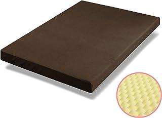 ottostyle.jp 高反発マットレス プロファイル加工 厚さ10cm クイーン 硬め 密度27D/硬さ180ニュートン 高密度ウレタンフォーム使用 体圧分散 快適睡眠 通気性 リバーシブル (ブラウン)