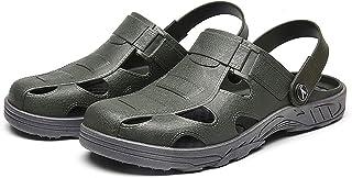 Mens Garden Clogs Lightweight Non-Slip Summer Pool Sandals Quick Drying Beach Slippers