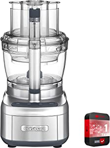 Cuisinart FP-13DSV Elemental 13 Cup Food Processor with Dicing Kit, Silver Bundle with 1 Year Extended Protection Plan