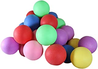 50 Assorted Beer Pong Balls - Ping-Pong Balls Washable Plastic (Color)