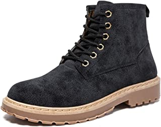 Sunny&Baby Men's Fashion Ankle Work Boot Casual Simple and Comfortable Retro High Top Boot Durable (Color : Black, Size : 8.5 UK)