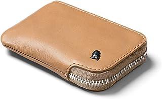 Bellroy Leather Card Pocket Wallet, Portefeuille Zip Slim (Max.15 Cartes, Billets, Poche Monnaies) - Tan