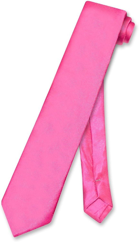 BOY'S NeckTie Solid HOT PINK FUCHSIA Neck Tie