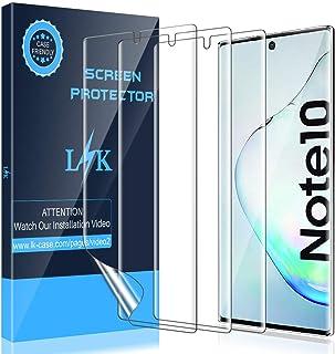 LK [3 Pezzi Pellicola Protettiva per Samsung Galaxy Note 10, Adatta a Sensore Ultrasonico [Compatibile con la Custodia] Se...