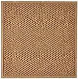 Hudson Exchange Waterhog Fashion Diamond Floor Mat, 35' x 35', 3/8' Thick, Camel