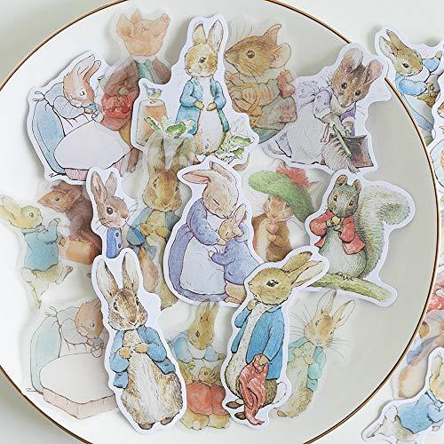 ZZHH 40 uds / 1 Lote Kawaii Pegatinas de papelería Conejo Diario planificador Diario Basura Decorativo Scrapbooking DIY Pegatinas artesanales