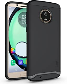 Motorola Moto G6 Case, TUDIA Slim-Fit Heavy Duty [Merge] Extreme Protection/Rugged but Slim Dual Layer Case for Motorola Moto G6 [NOT Compatible with Moto G6 Plus](Matte Black)