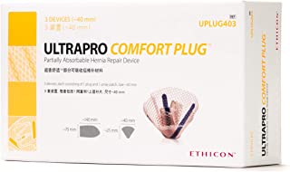 Ethicon ULTRAPRO Comfort Plug Partially Absorbable Hernia Repair Device, UPLUG403, 40 mm Plug with 2.75