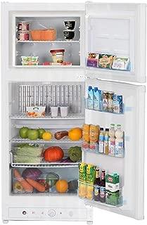 SMETA Electric 110V/Propane Absorption Refrigerator with Freezer,6.1 Cu,ft,White
