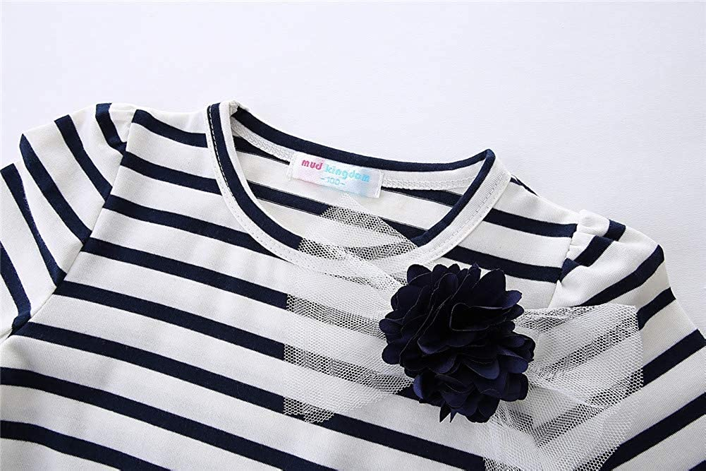 LittleSpring Little Girl Tunic Dress Striped Dress Cotton Casual