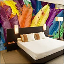 Gwrdnjpjc Modern Creative Wall Mural 3D Photo Wallpaper On Wall Feather Oil Painting Living Room Sofa Backdrop Murals Wallcoverings@280X200Cm