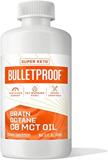 Bulletproof Brain Octane C8 MCT Oil from Coconut Oil, 3 Fl Oz, Provides Mental and Physical Energy, Keto an...