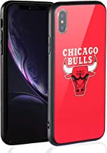 Sportula NBA Phone Case - 9H Tempered Glass Back Cover Silicone Rubber Bumper Frame Compatible Apple iPhone X/iPhone Xs
