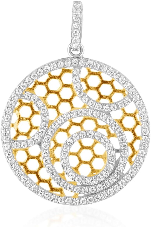 142 White Swarovski Crystal Zirconia and 925 Silver Pendant CRY J258 X  bluee Pearls