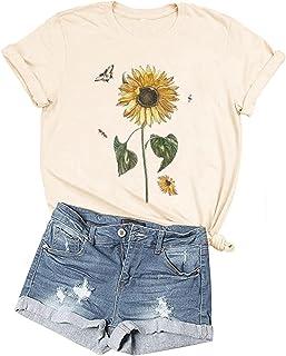 women\u2019s floral shirt Womens sunflower shirt