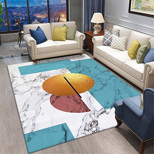 Children Rug Marble patterned bedroom warm carpet soft living room carpet Girls Bedroom Rug Washable Rugs Non Slip Off-white 120X160CM