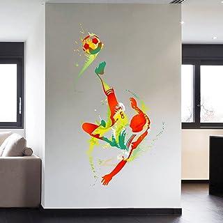 STICKERSFORLIFE cik113 Full Color Wall Decal Soccer Football Ball Sport Spray Paint Room Bedroom Sports Hall