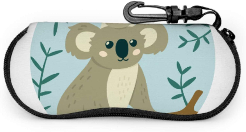 Little Cute Baby And Mom Koala Girl Eyeglass Case Custom Sunglasses Case Light Portable Neoprene Zipper Soft Case Case Multiple Sunglasses