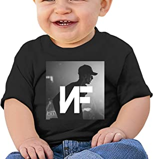 Baby Boys' Girls' NF Rapper Logo Print Tee T Shirt Short Sleeve Tshirt for Kids Boys Girls T-Shirt Crew Neck Clothes