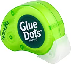Glue Dots Removable Dot N' Go Dispenser with 200 (.375 Inch) Removable Adhesive Dots (03669E)