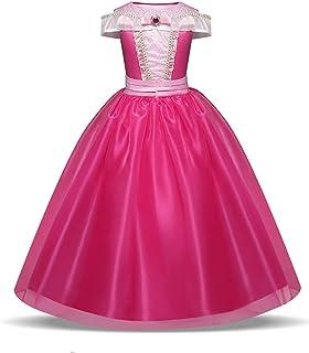 Disfraz de princesa Aurora para niñas de 3 a 10 años,