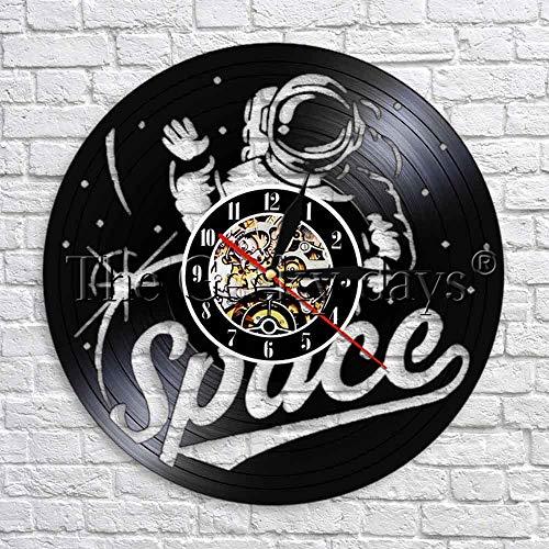 jiushixw Art-Deco-Uhr Luminous Font Zeiterfassung Uhr Geschenk für Astronauten