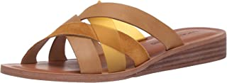 Lucky Brand Women's HALLISA Flat Sandal, Golden Yellow, 6.5 M US