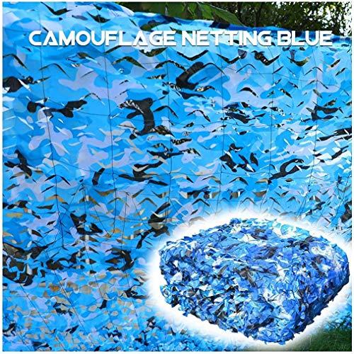 HTTWZW Camouflage Netting Camo Net Sunscreen Nets Sun Shade Netting Blue for Camping Military Hunting Shooting Watching Bird Party Decorations Greenhouse Patio Garden Yard Backyard Lawn Plant Su W8Z8W