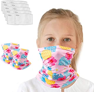 Kids Neck Gaiter with Carbon Filter for 4-12 Years Olds, UV ProtectionFace Cover for Hot Summer Cycling Hiking SportOutdoor
