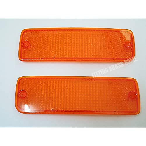 89-95 91 93 Front Bumper Lights Orange Lenses for Toyota Hilux Mighty X Ln85