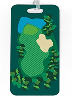 Golf Luggage & Bag Tag | Golf Course | No Personalization on Back | LARGE