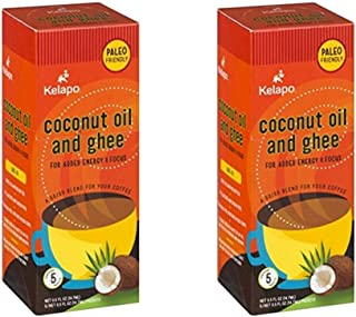 Kelapo Coconut Oil and Ghee 50/50 Blend Packets, 5 Packet Box (Pack of 2)