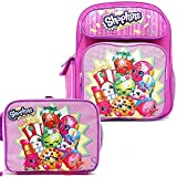 Shopkins School Backpack Set 12' Small Backpack with Lunch Bag 2pc Moose