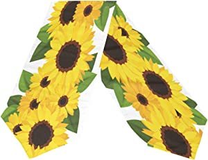 MOYYO Sunflowers Table Runner 13 x 70 Inch Polyester Table Cloth Runner Coffee Table Runner Decor for Wedding Dinner Birthday Engagement Party Banquets Home Decoration