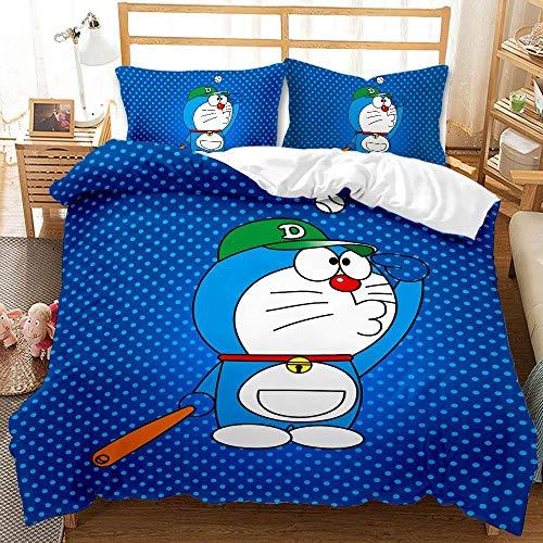 WLLSF Funda De Edredón,Doraemon Unisex Anime Funda Nórdica De Microfibra Suave Impreso Juego De...