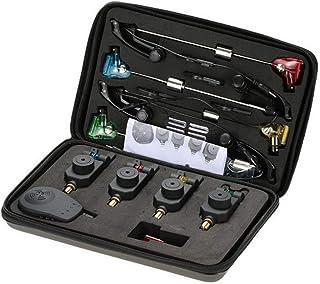 Danping Conjunto de alarmas de mordedura de Pesca 4 Piezas Tackle Carp Fishing Alarm & Swinger Set w/Zippered Box Waterpro...