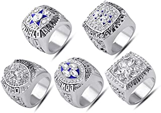 Twcuy Championship Replica Rings Dallas Cowboys Super Bowl 1971 VI, 1977 XII, 1992 XXVII, 1993 XXVIII, 1995 XXX Ring Set
