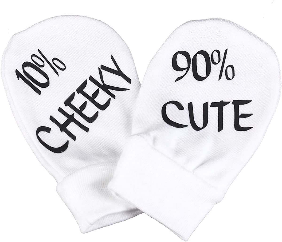 Spoilt Rotten - Cute & Cheeky 100% Organic Cotton Baby Mittens Baby Gloves