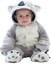 Unisex Baby Romper Winter Autumn Clothes Hoodie Jumpsuit Animal Koala Cosplay Clothes - 0-24 Months