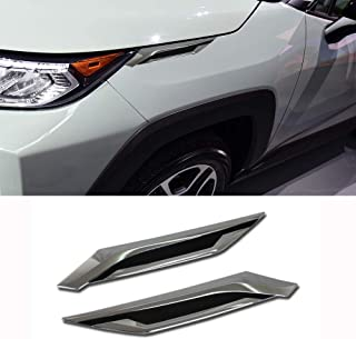 Beautost Fit For Toyota New RAV4 2019 2020 2021 Headlight Molding Trim Front Side Fender Cover Trims